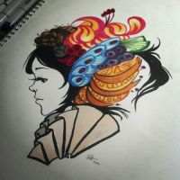 Nujabes and Markers by poachedEggs