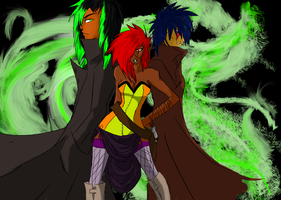 The Hellfire Trio by Firefly-Soma