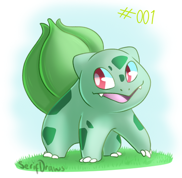 Pokemon Drawing - Day 1 - Bulbasaur by SerifDraws
