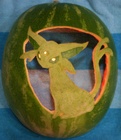 Espeon Watermelon Lit Up by johwee