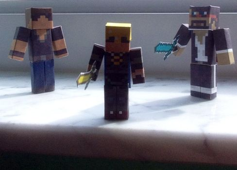 MC Youtuber Paper Figurines by TrixyMuffin1399