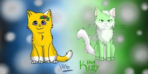Hollyblaze And Kiwikitty! by Hollygoesmeow