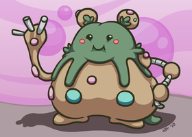 Cute Ugly Pokemon #562 - Garbodor by Klecktacular