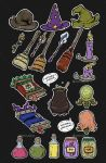2D Magic item set : on Graphic River by painted-leaf