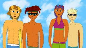 The whole Rocket Power Gang by AngelofDarkness16
