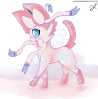 Sylveon by StrangeMoose