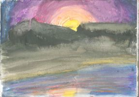 watercolour sunset 01 by wolfds