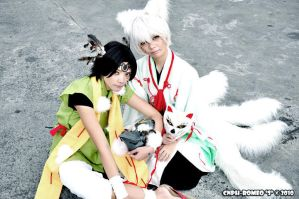 Hiiro no Kakera - Crow and Fox by seirie06