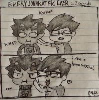 Every Johnkat Fic Ever in 2 Seconds by Kirara91