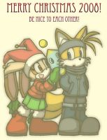 Tails and Cream - Xmas 2008 by Tigerfog