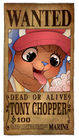 Tony Chopper Wanted Poster by PlanarShift