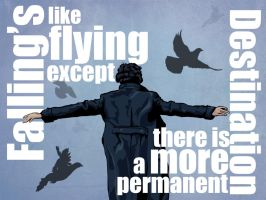Sherlock - Falling's Like Flying Wallpaper by lil-n00dle
