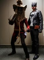 Greaser Batman and Scarecrow by joshspiderman238