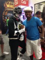 Black Ranger meets Black Ranger by EddieHolly