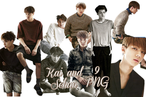 Kai and Sehun's PNG Pack {Grazia} by kamjong-kai