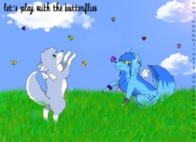 Let's play with butterflies by Nanami-wolf
