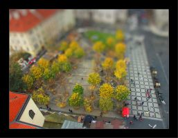 Tilt Shift - Toy Trees by johnnytourettes