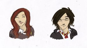 Lily And James Sketches by munsterfanatic