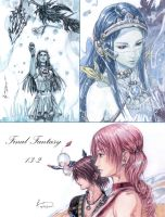 Final Fantasy 13-2 Yeul And The Heroes by Nick-Ian