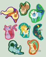 Eevee Keychains by DaftPassion