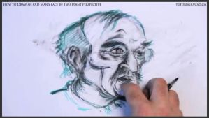 Draw An Old Man's Face In Two Point Perspective 37 by drawingcourse