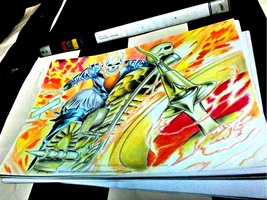 Old drawing - Ghost Rider by AnkitDArt