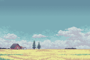 Under a Prairie Sky (8:1 Print) by AprilSundae