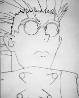 Vash Face Sketch by Anubis84