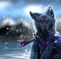 BlackWolf Commission by Foxbat-Sullavin
