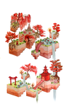Fall in the Miko's temple Biome by shooshu