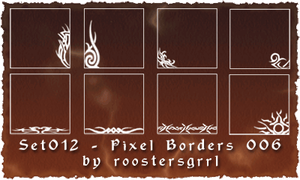 Set 012 - Pixel Borders 006 by wolfgrrlone