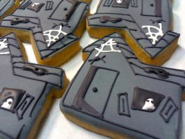 Haunted House Cookies by eckabeck