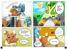 PMD-E: TSS Mission 1 pg 2+3 by Ashayx
