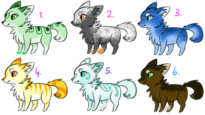 Elemental Fox Adopts - 5 points :1 OPEN: by Nat-Adopts