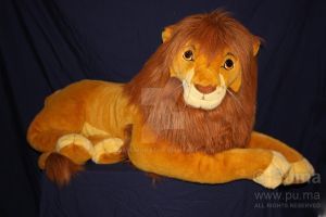 Life Size plush Adult Simba by dapumakat