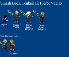 Fierce Vegito Sprites by LeeHatake93