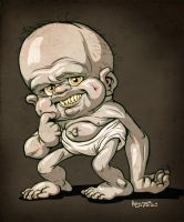 creepy Baby by heckthor