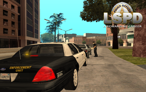 Traffic Unit during a traffic stop by mGreenie