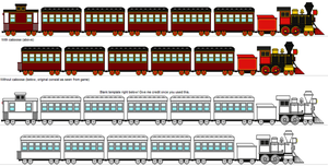 K.D. Express Train with template by RailroadNutjob