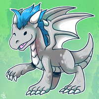 Commission - Baby Dragon by raizy