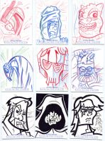 Star Wars-Galactic Files Sketch Cards #4 by mikehampton