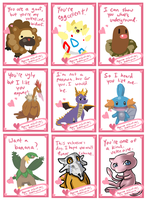 pokemon valentines part 2 by ZeeKayArt