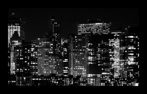 NYC, Lower Manhattan, Night, 3 by severfire