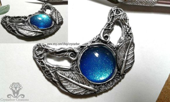 WIP Fantasy Necklace Crystarbor Creations by Crystarbor