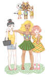 Animal Crossing gals by Mannylinn