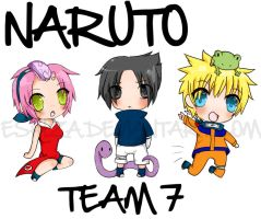 Team 7 chibi's by Eshiza