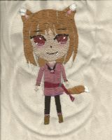 Spice and Wolf- Horo Embroidery by Treehouseman
