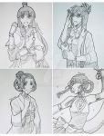 AA : Ace Attorney girls by pink-crest