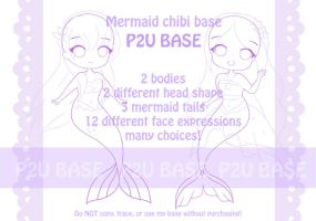 [P2U] Mermaid chibi base by PennyGEM