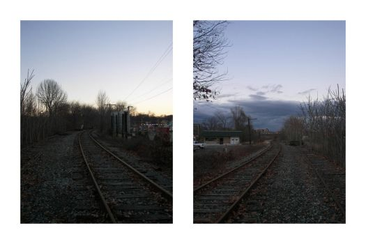 Train Tracks Times Two by Anarchaic